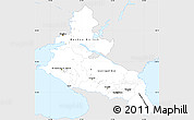 Silver Style Simple Map of North Caucasus, single color outside