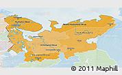 Political Shades 3D Map of North, lighten
