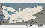 Shaded Relief 3D Map of North, darken