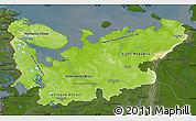 Physical Map of North, darken