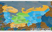 Political Map of North, darken