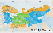 Political Map of North, lighten
