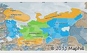 Political Map of North, semi-desaturated