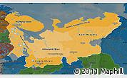 Political Shades Map of North, darken