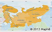Political Shades Map of North, lighten
