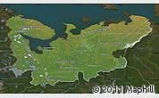 Satellite Map of North, darken