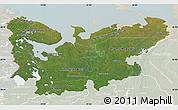 Satellite Map of North, lighten