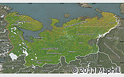 Satellite Map of North, semi-desaturated