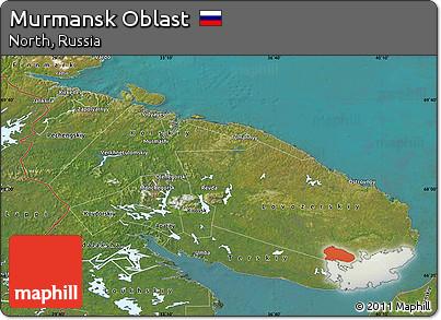 Free Satellite Map of Murmansk Oblast
