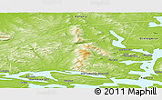 Physical Panoramic Map of Monchegorsk