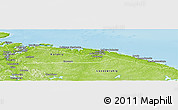 Physical Panoramic Map of Severomorsk