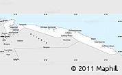 Silver Style Simple Map of Severomorsk