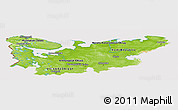 Physical Panoramic Map of North, cropped outside