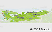 Physical Panoramic Map of North, lighten