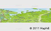 Physical Panoramic Map of North