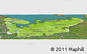 Physical Panoramic Map of North, satellite outside
