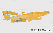 Political Shades Panoramic Map of North, cropped outside
