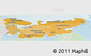 Political Shades Panoramic Map of North, lighten