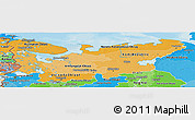 Political Shades Panoramic Map of North