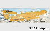 Political Shades Panoramic Map of North, shaded relief outside