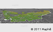 Satellite Panoramic Map of North, desaturated