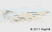 Shaded Relief Panoramic Map of North, lighten