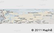Shaded Relief Panoramic Map of North, semi-desaturated