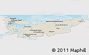 Shaded Relief Panoramic Map of North, single color outside