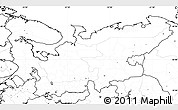 Blank Simple Map of North, no labels