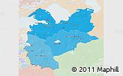 Political Shades 3D Map of Northwest, lighten