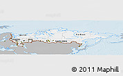 Gray Panoramic Map of Russia, single color outside