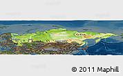 Physical Panoramic Map of Russia, darken