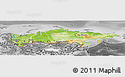 Physical Panoramic Map of Russia, desaturated