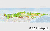 Physical Panoramic Map of Russia, lighten