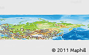 Physical Panoramic Map of Russia