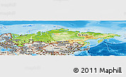 Physical Panoramic Map of Russia, shaded relief outside