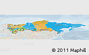 Political Panoramic Map of Russia, lighten