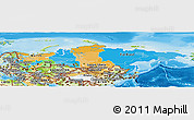 Political Panoramic Map of Russia, physical outside