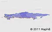 Political Shades Panoramic Map of Russia, cropped outside