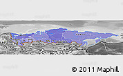 Political Shades Panoramic Map of Russia, desaturated