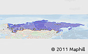 Political Shades Panoramic Map of Russia, lighten