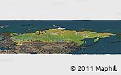 Satellite Panoramic Map of Russia, darken