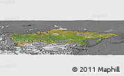 Satellite Panoramic Map of Russia, desaturated