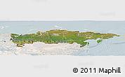 Satellite Panoramic Map of Russia, lighten