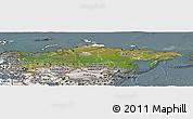 Satellite Panoramic Map of Russia, semi-desaturated