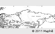 Blank Simple Map of Russia