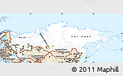Classic Style Simple Map of Russia
