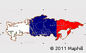 Flag Simple Map of Russia, flag aligned to the middle