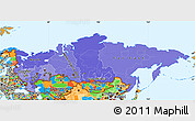 Political Shades Simple Map of Russia, political outside
