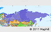 Political Shades Simple Map of Russia